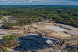 vue du haut center parcs construction